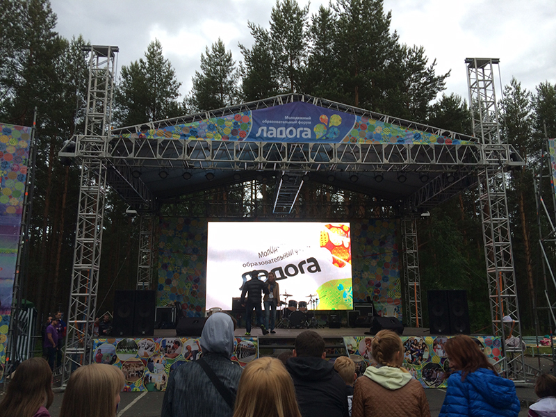 P6 SMD3535 outdoor rental LED display in Russia