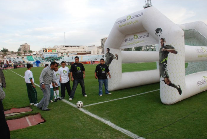 P10 football peremeter LED display in Egypt
