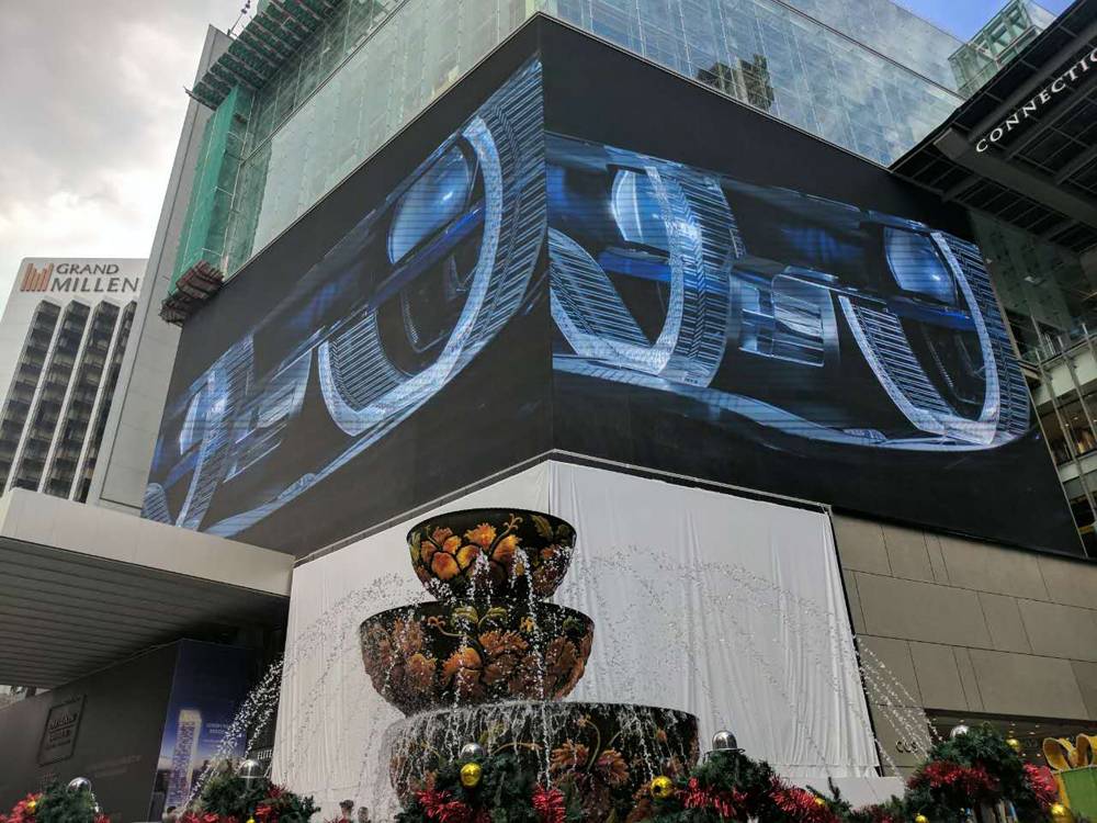 Bako P12.8 outdoor LED display 1500 square meters in Malaysia